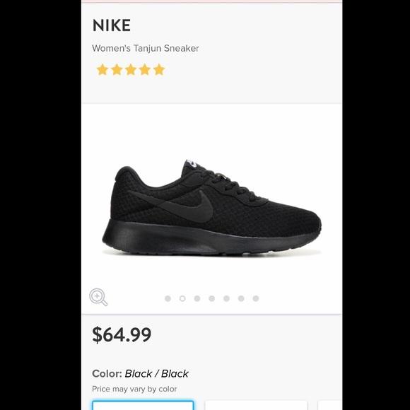 quality design 0f95b 95d00 Women s Black Nike Tanjun Sneaker. M 5bde25b2aaa5b878f352b5d3